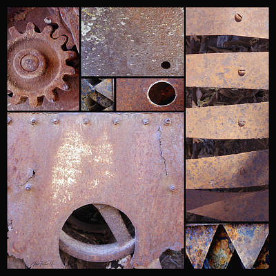 Photograph - Rust And Metal Abstract  by Ann Powell