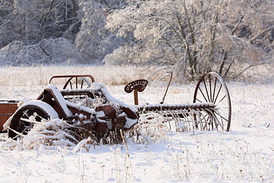 Winter Storm Photograph - Rust And Snow by Louise Heusinkveld