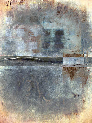 Blue Abstracts Photograph - Rust And Walls No. 1 by Carol Leigh