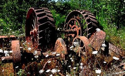 Rust And Wheels Art Print