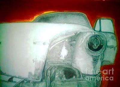 Rusted Cars Drawing - Rust Bucket  by Nathan Mwenda