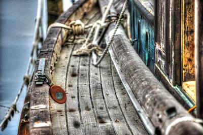 Digital Art - Rust Colored Block by Michael Thomas