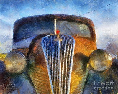 Rust In Peace Art Print by Barbara R MacPhail