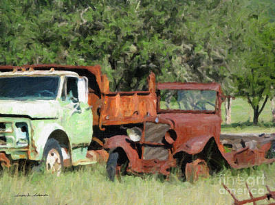 Rust In Peace No. 1 Art Print by Susan Schroeder