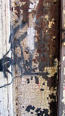 Photograph - Rust W Crackle Paint by Anita Burgermeister