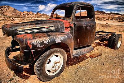 Photograph - Rusted At Rhyolite by Adam Jewell