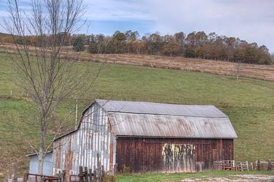 Roaming Elk Photograph - Rusted Barn  by Kathy Wesserling