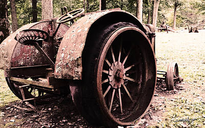 Rusted Big Wheels Art Print