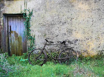 Door Photograph - Rusted  Bike By The Door by Bill Cannon