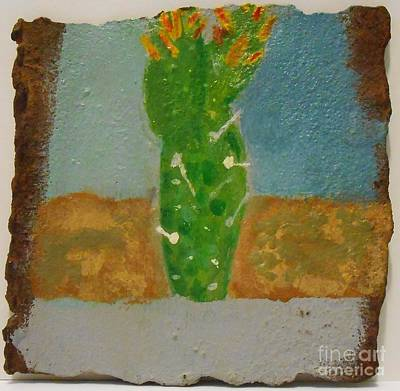 Painting - Rusted Cactus by Josh Jeffers