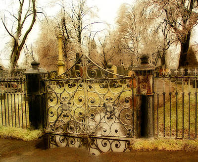 Rusted Cemetery Gate Art Print by Gothicrow Images