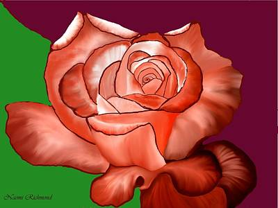 Grow Digital Art - Rusted Copper Rose by Naomi Richmond