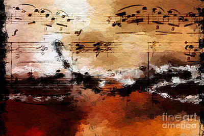Art Print featuring the digital art Rusted Desert Harmony by Lon Chaffin