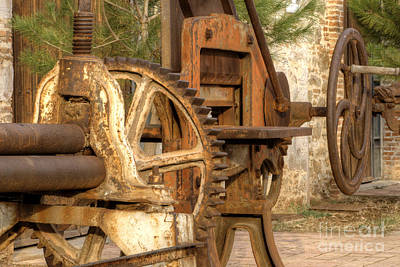 Photograph - Rusted Factory Machinery Larissa Greece 2 by Deborah Smolinske