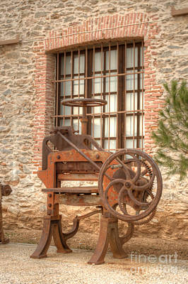Photograph - Rusted Factory Machinery Larissa Greece by Deborah Smolinske