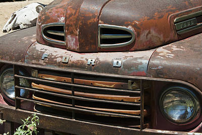 Rusted Ford In Hackberry Art Print