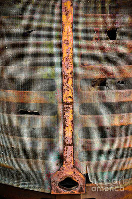Photograph - Rusted Grill - Abstract by Colleen Kammerer