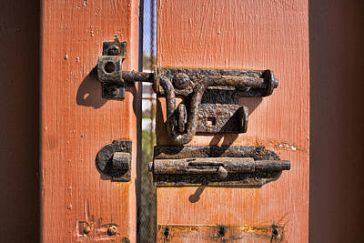 Rusted Lock Original by Hugh Smith