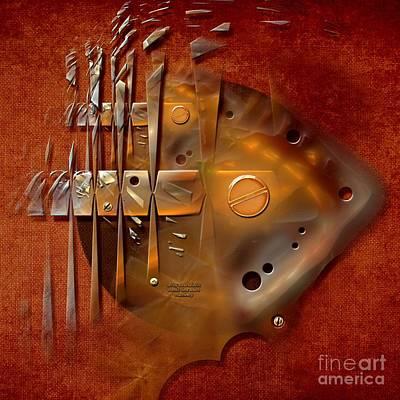 Digital Art - Rusted Machinery by Alexa Szlavics
