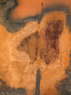 Photograph - Rusted Metal Abstract by Ben Kotyuk