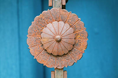 Rusted Metal Decoration, Taos, New Art Print by Julien Mcroberts