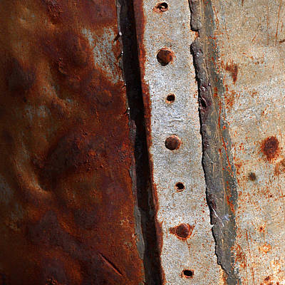 Rusted Metal Tank Art Print by Art Block Collections