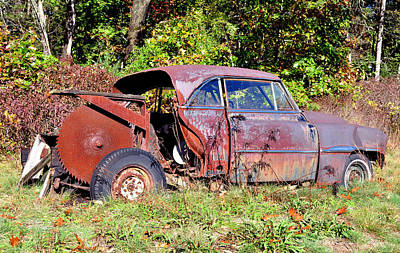 Photograph - Rusted Old Car by Staci Bigelow