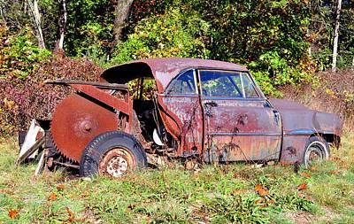 Rusted Old Car Art Print