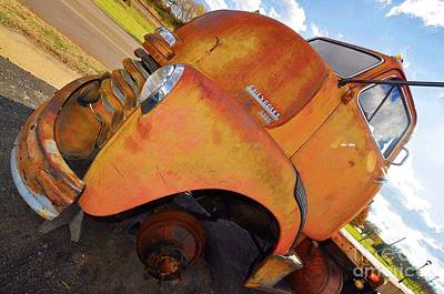 Rusted Out Chevrolet 5700 Art Print by Liane Wright