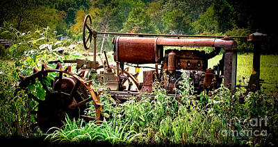 Photograph - Rusted Red Tractor by Colleen Kammerer