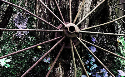Photograph - Rusted Spokes by Michael Spano