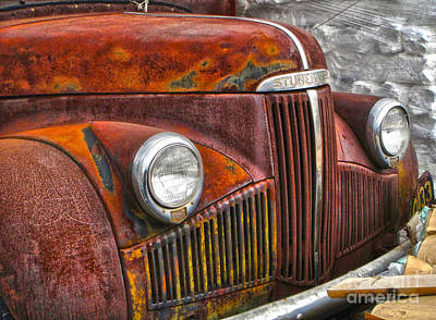 Photograph - Rusted Studebaker by Gregory Dyer