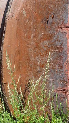 Photograph - Rusted Tank Close Up by Anita Burgermeister