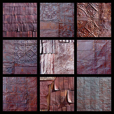 Metallic Sheets Photograph - Rusted Tin by Art Block Collections