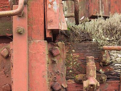 Rusted Cars Drawing - Rusted Train Car Close-up by Debra Boyle
