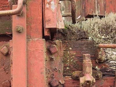 Rusted Train Car Close-up Art Print by Debra Boyle