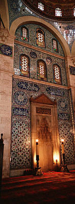 Ancient Culture Photograph - Rustem Pasa Mosque Istanbul Turkey by Panoramic Images