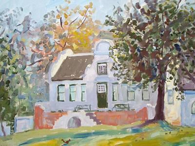 Verandah Painting - Rustenberg Manor by Elinor Fletcher