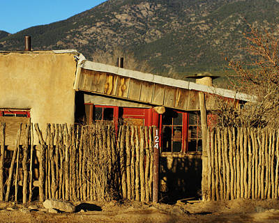 Rustic Adobe Desert Home Art Print by Amber Smith