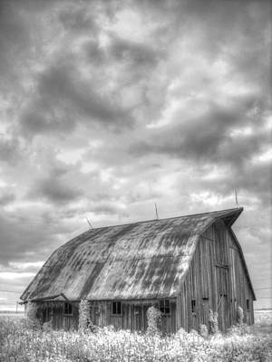 Infared Photograph - Rustic Barn by Jane Linders