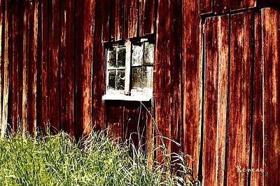 Photograph - Rustic Barn Window by Sadie Reneau