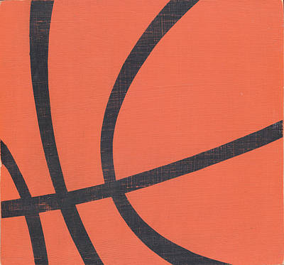 Basketball Painting - Rustic Basketball by Alli Rogosich