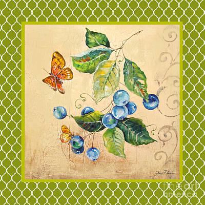 Rustic Blueberries On Moroccan Original by Jean Plout