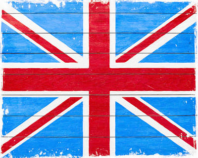 Digital Art - Rustic British Union Jack - Vintage Flag by Mark E Tisdale