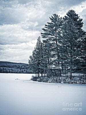 Ice Fishing Photograph - Rustic Cabin On The Pond by Edward Fielding