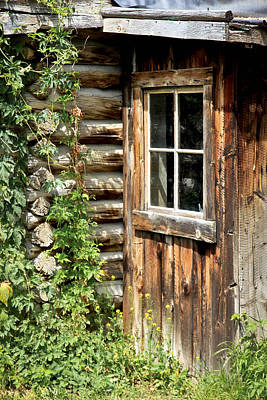 Photograph - Rustic Cabin Window by Athena Mckinzie