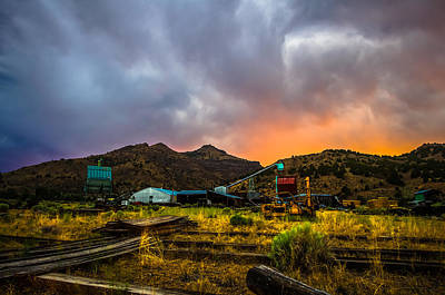 Sawmill Photograph - Rustic California Lumber Mill At Sunset by Scott McGuire