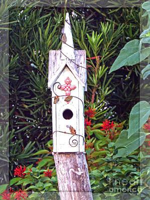 Animal Shelter Digital Art - Rustic Charm - Birdhouse by Ella Kaye Dickey