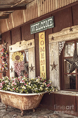 Rustic Country Welcome Art Print