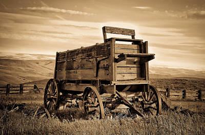 Rustic Covered Wagon Art Print by Athena Mckinzie